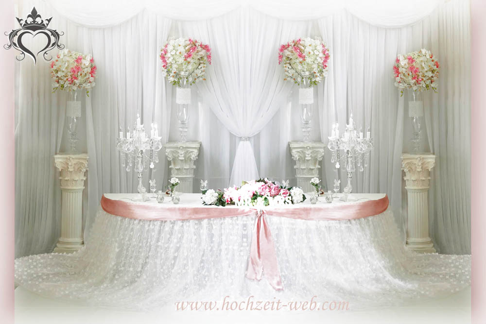 Hochzeitsdekoration in hell rosa farbe for Dekoartikel altrosa