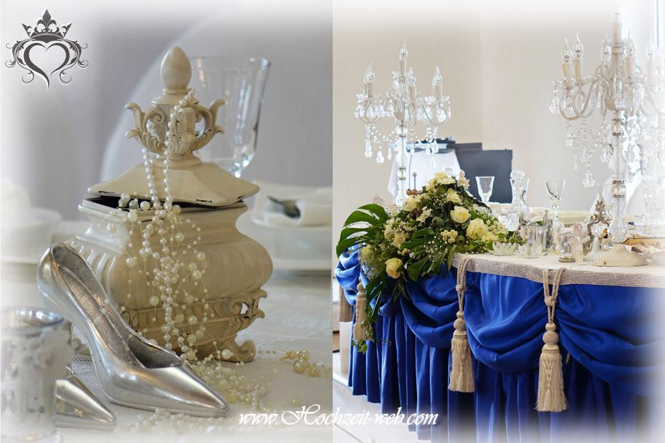 Hochzeitsdekoration In Royalblau