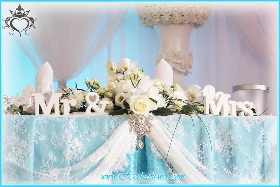 Hochzeitsdekoration In Turkis Farbe
