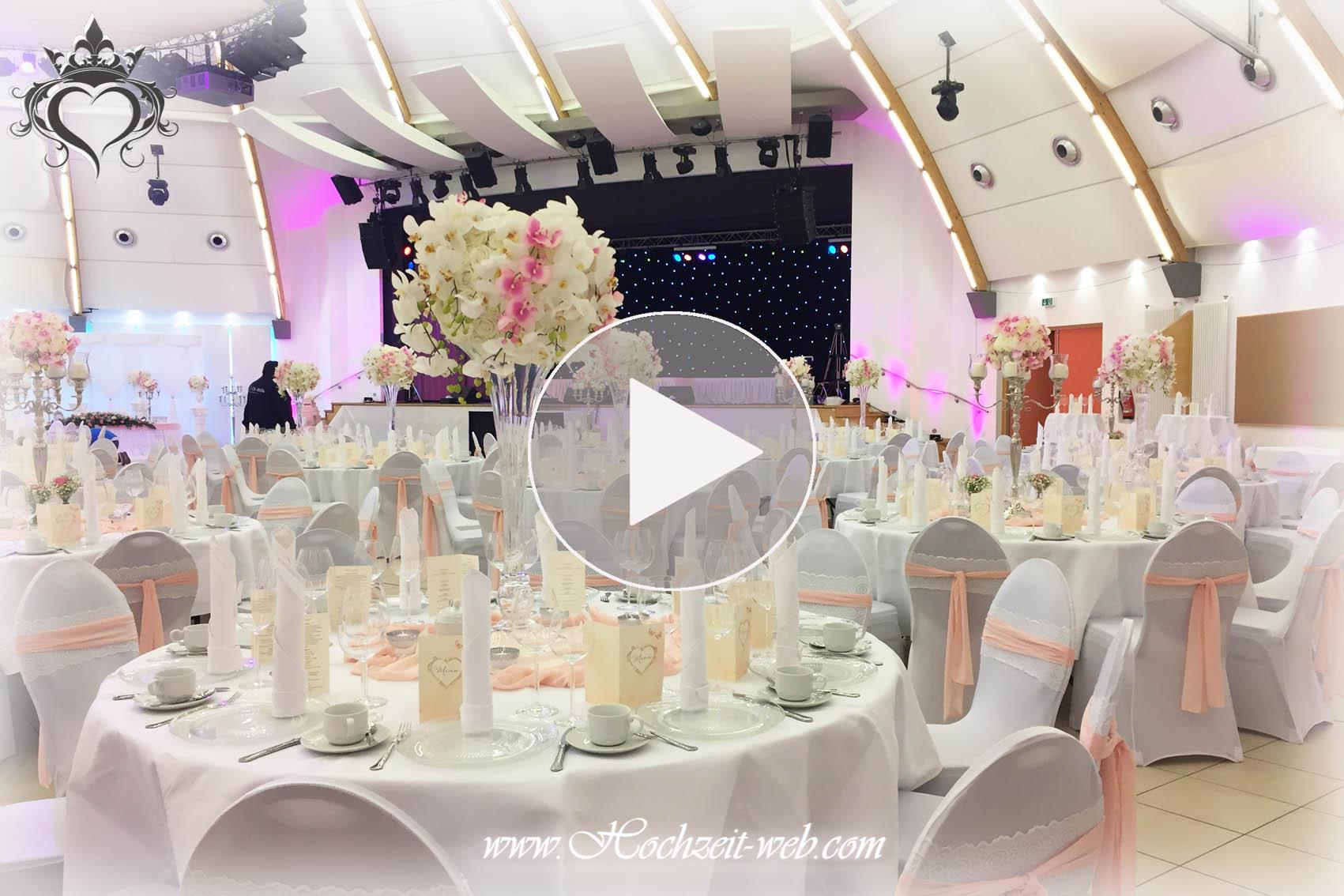 Hochzeitsdekoration In Hell Rosa Farbe