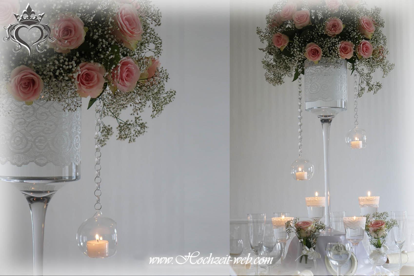 Hochzeitsdekoration für Traumhochzeit