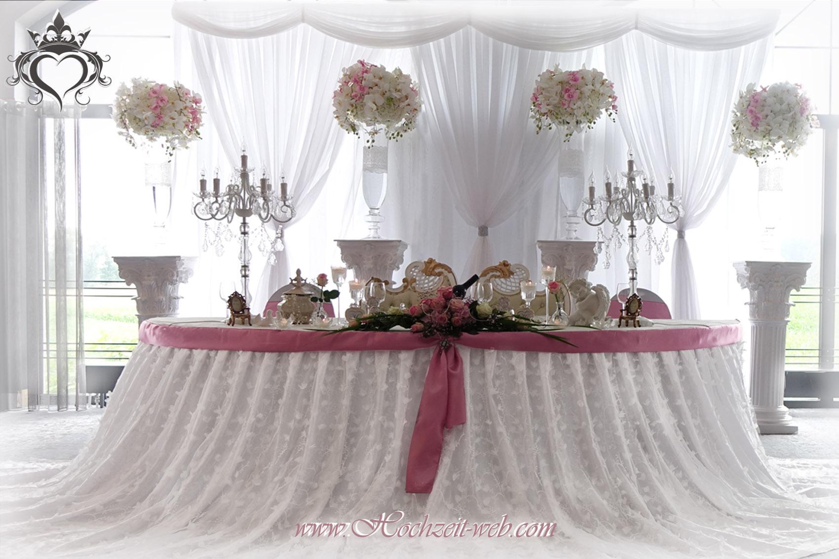 Brauttisch deko gold rosa alle guten ideen ber die ehe for Brauttisch deko