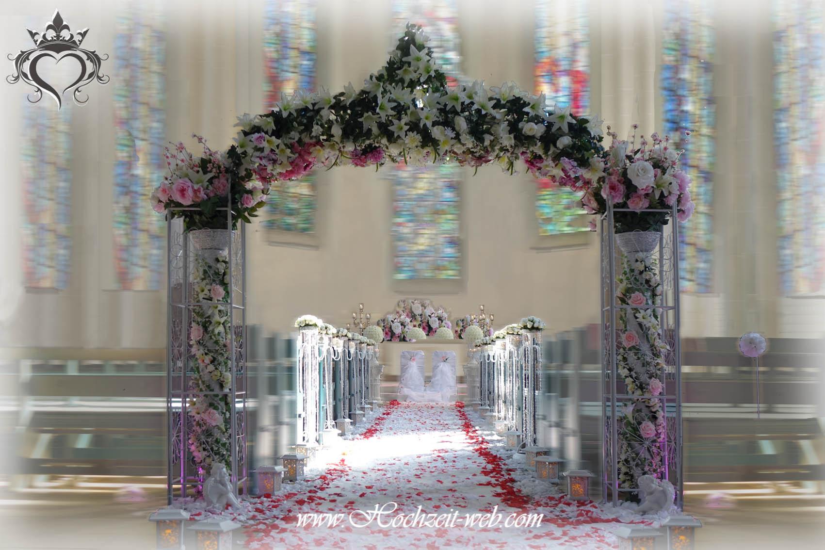 Kirchendekoration und dekoration f r trauung im freien for Hochzeitsdeko bielefeld