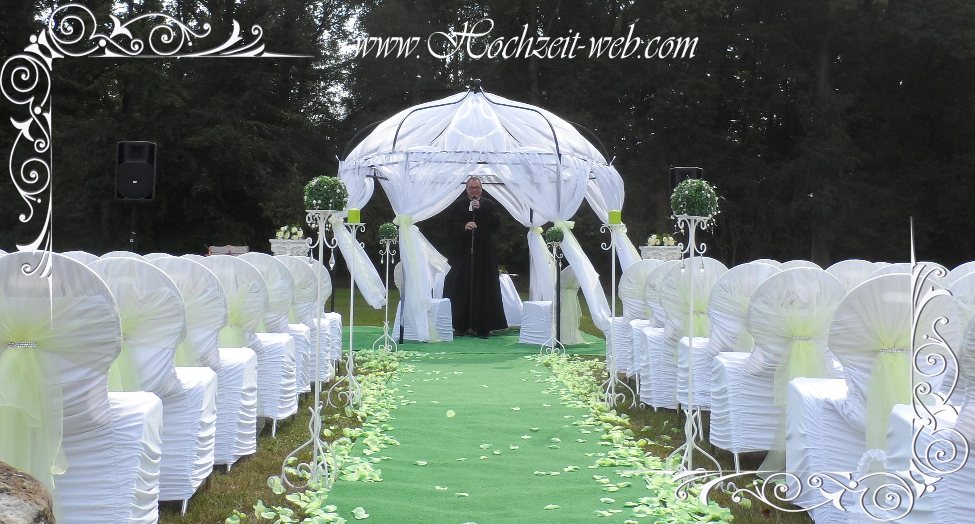 Hochzeit Im Freien Pavillon By Hochzeit Web Com