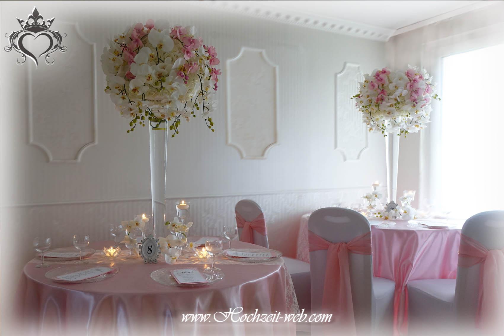 Elegante und extravagante Vasen für Tischdekoration / Hochzeitsdeko.