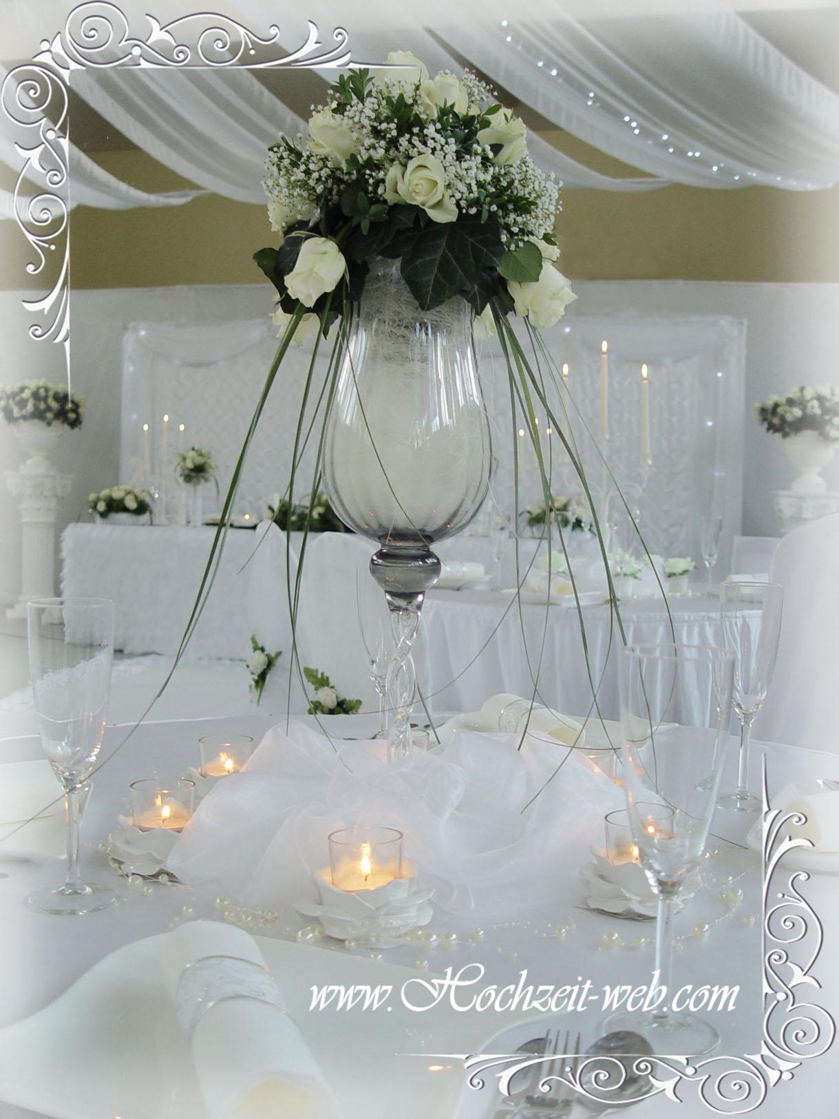 Elegante und extravagante Vasen für Tischdekoration