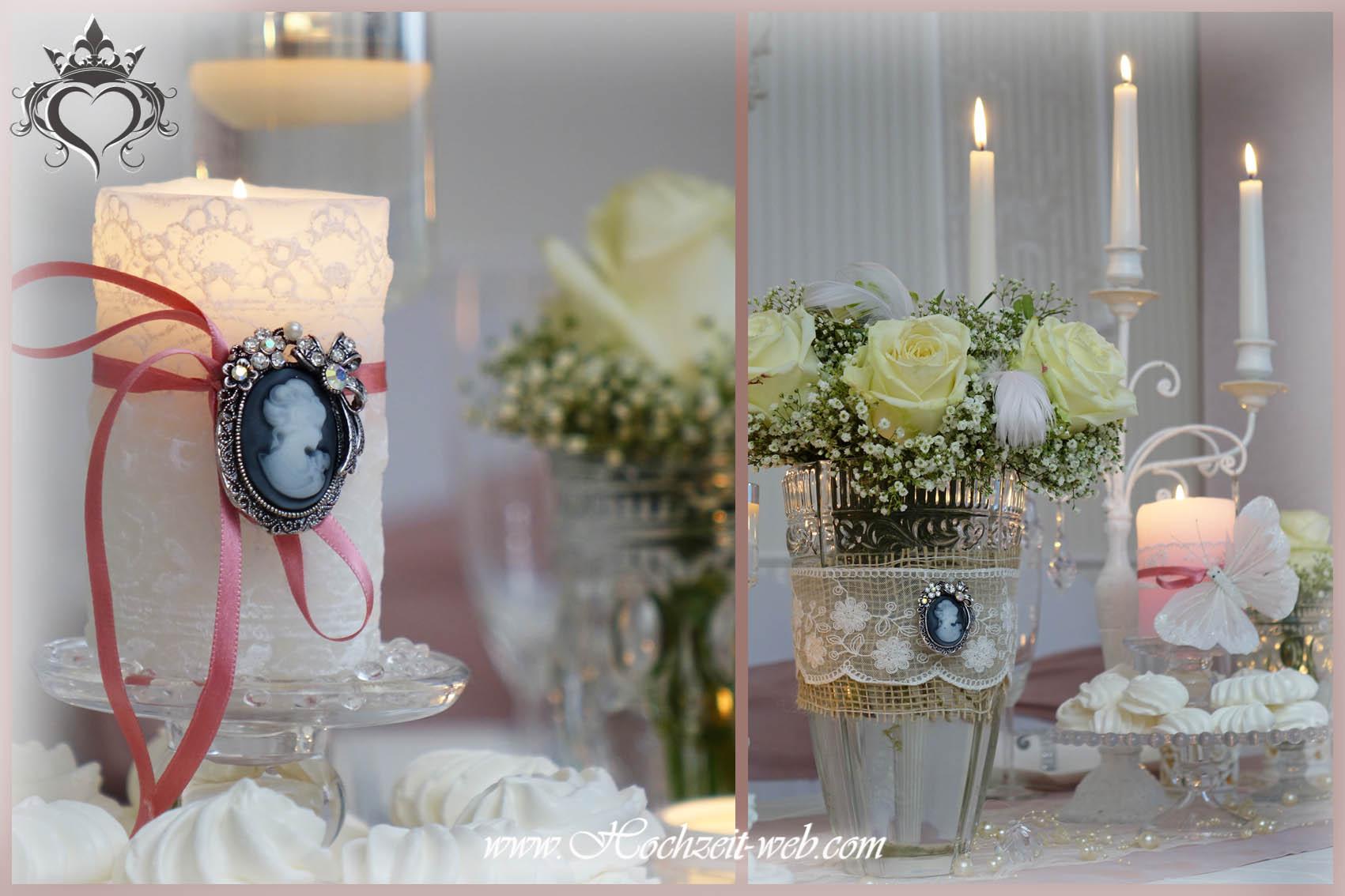 Elegante und extravagante Vasen für Tischdekoration Hochzeitsdeko