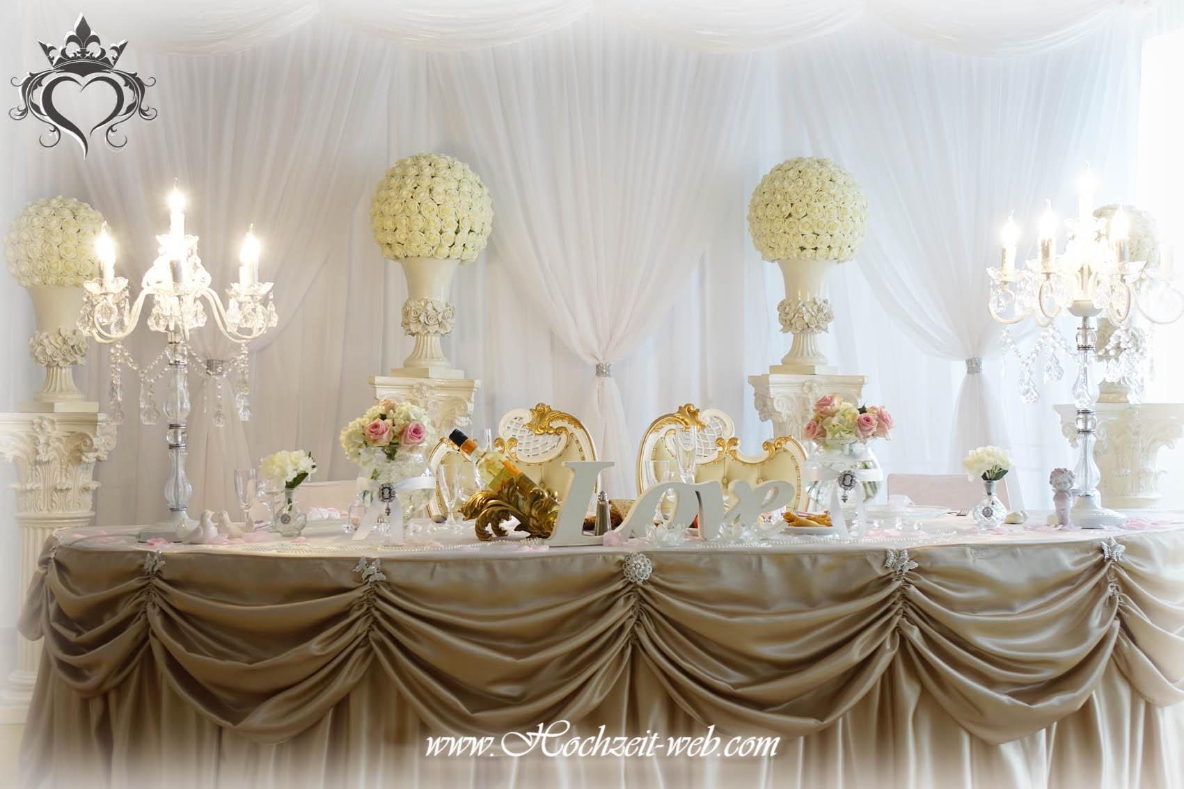 Brauttisch oder verlobungstisch in allen farben for Dekoartikel altrosa