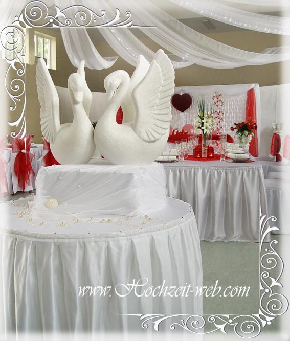 Hochzeitsdekoration Tisch Rote Servietten Und Bomboniere Pictures to ...