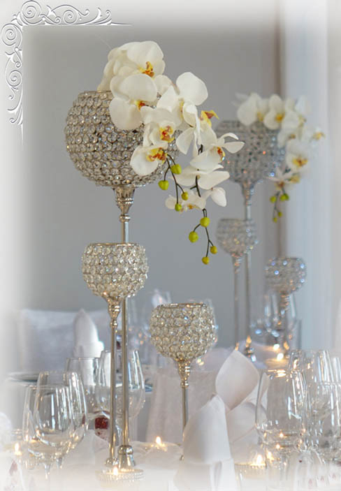 Hochzeitsdekoration kristallst nder by hochzeit for Dekoartikel hochzeit