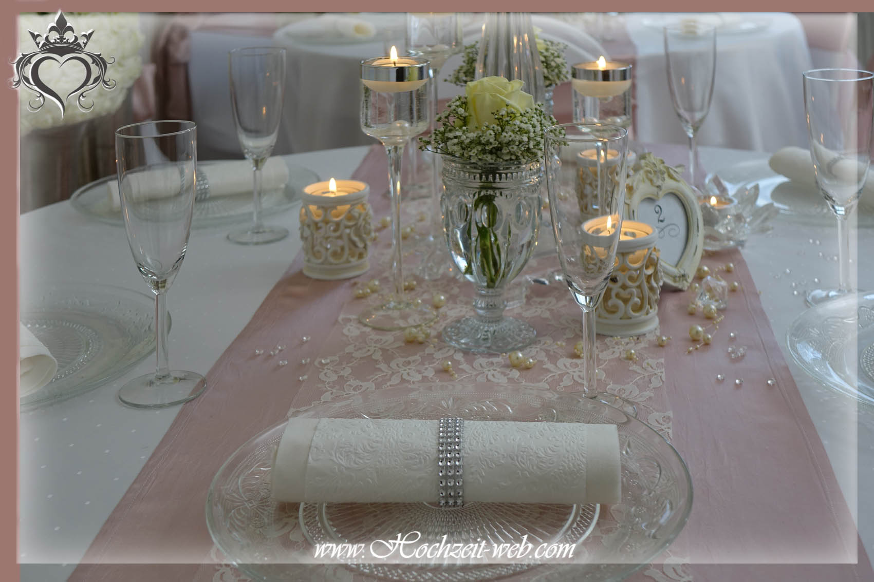 Glas platzteller oder platzteller in goldene farbe for Tischdeko altrosa