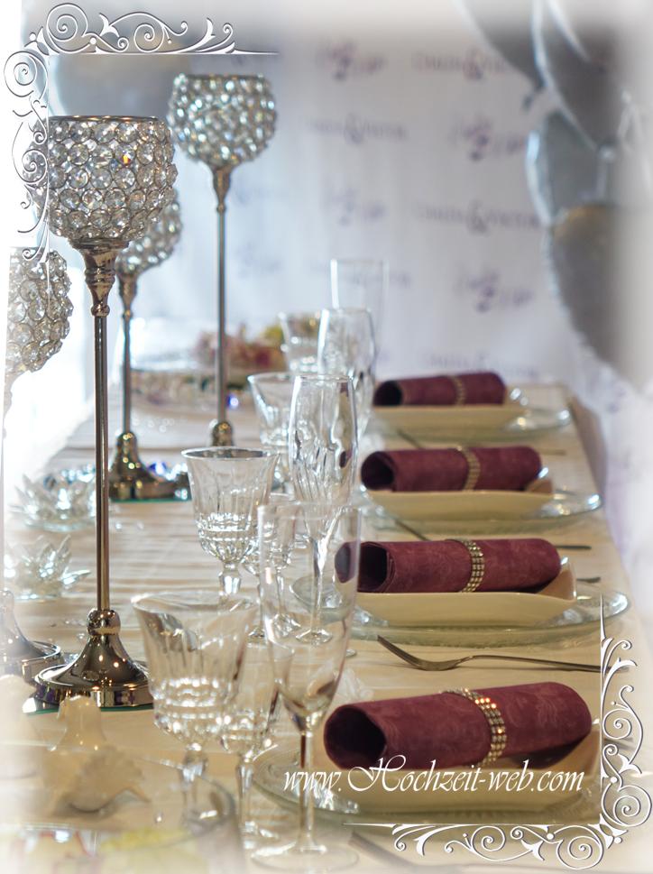 Glas platzteller oder platzteller in goldene farbe for Dekoartikel hochzeit