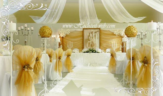 Stetch stuhlhussen f r ihre hochzeitsdeko for Hochzeitsdeko gold